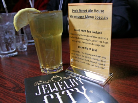 A steampunk cocktail at the Park Street Ale House