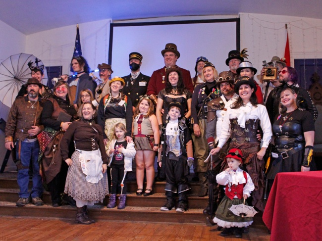 Group photo after the costume contest