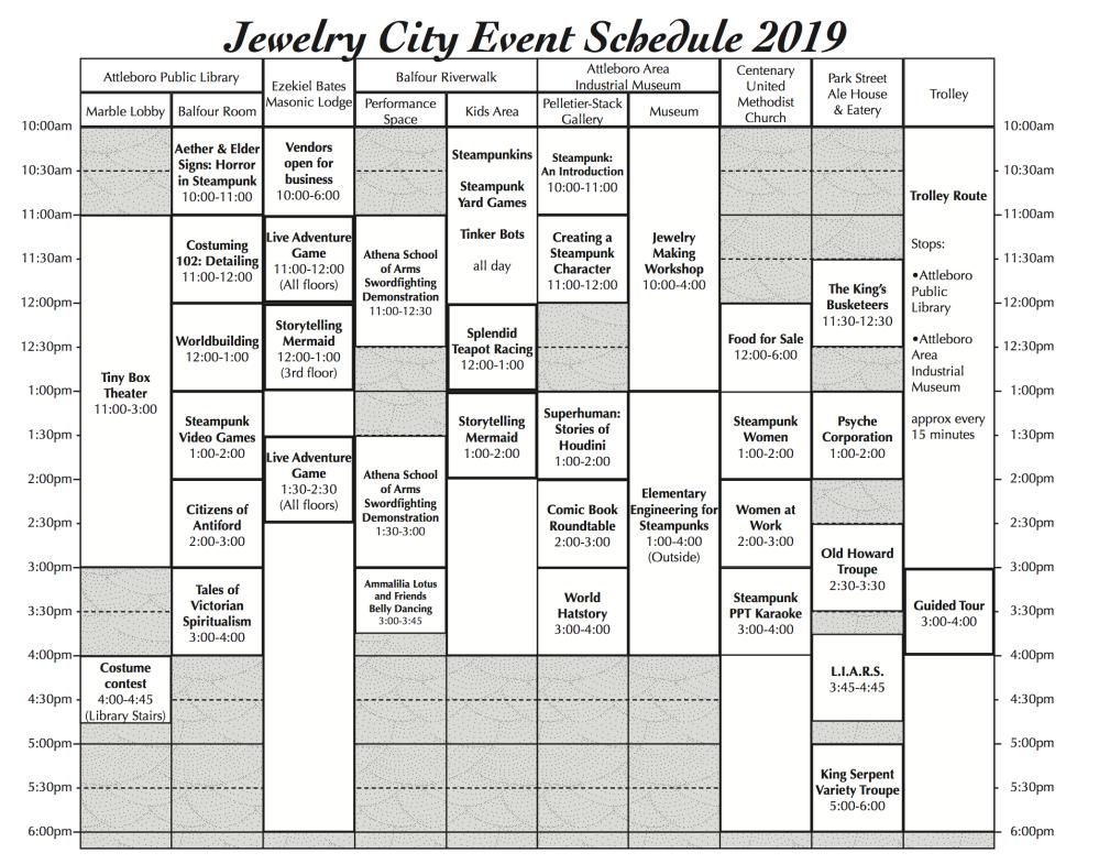 JCSF Schedule 2019